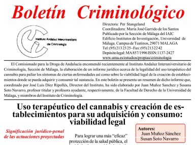Portada de la publicación del informe Muñoz y Soto