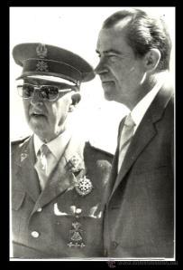 Franco junto a Nixon.