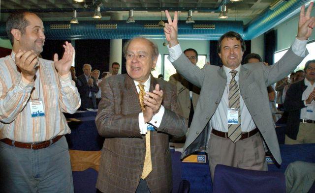 Felip Puig, Jordi Pujol y Artur Mas en un consejo de CiU en 2005.