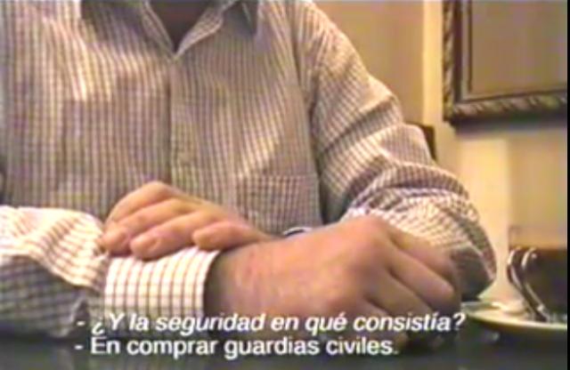 """""""Txofo"""" Miguéliz, durante una entrevista en la que implicaba a altos mandos de la Policía y la Guardia Civil en el narcotráfico."""